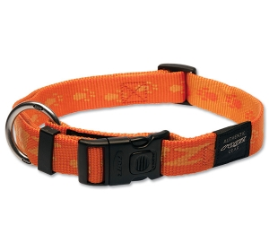 Obojek ROGZ Alpinist oranžový XL