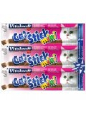 Vitakraft Stick mini cat losos + pstruh 3 ks