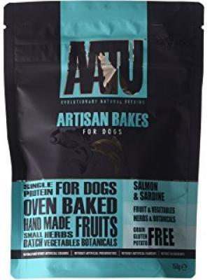 AATU Dog Artisan Bakes Salmon n Sardine 150g