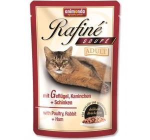 Animonda Rafiné Soupé cat kaps. - drůb,králík,šunk 100 g