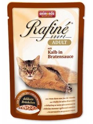 Animonda Rafiné Soupé cat kaps. - telecí v omáčce 100 g