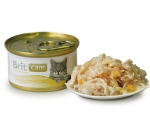 Brit Care Cat konz. - Chicken Breast & Cheese 80g