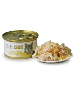 Brit Care Cat konz. - Chicken Breast & Cheese 80g