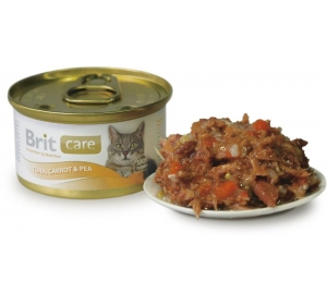 Brit Care Cat konz. - Tuna, Carrot &Pea 80g