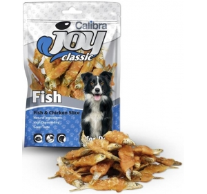 Calibra Dog Joy Classic Fish & Chicken Slice 80g