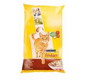 Friskies cat dry - maso, kuře a přidaná zelenina 10kg