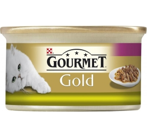 Gourmet Gold cat konz.-duš. králík a játra 85 g