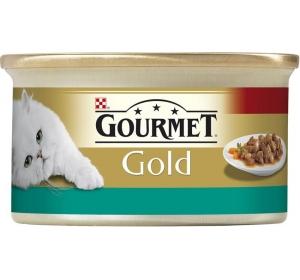 Gourmet Gold cat konz.-k.masa losos a kuře 85 g