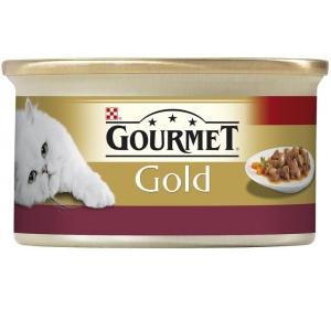 Gourmet Gold cat konz.-k.masa kuře a játra 85 g
