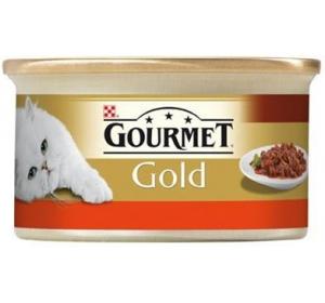 Gourmet Gold cat konz.-hovězí a kuře v rajčat.om. 85 g