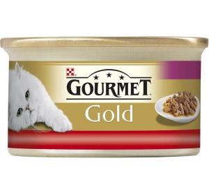 Gourmet Gold cat konz.-duš. k. hov. a kuře 85 g