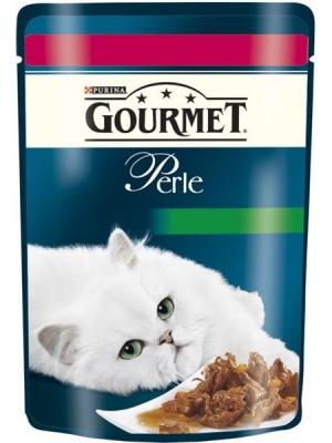 Gourmet Perle cat kaps.-hovězí a mrkev 85 g