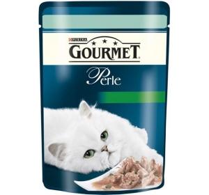 Gourmet Perle cat kaps.-pstruh a špenát 85 g