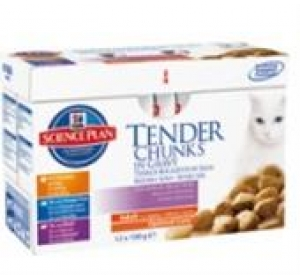 Hill's Feline Adult Multipack Ch+Fish+Beef 12x85g