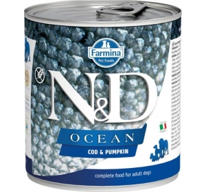 N&D OCEAN Dog konz. Adult Codfish & Pumpkin 285 g