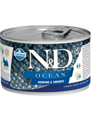 N&D OCEAN Dog konz. Adult Herring & Shrimps Mini 140 g