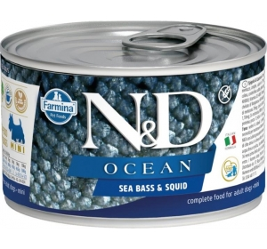 N&D OCEAN Dog konz. Adult Sea Bass & Squid Mini 140 g