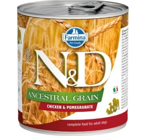 N&D Low Grain Dog konz. Adult Chicken & Pomegranate 285 g