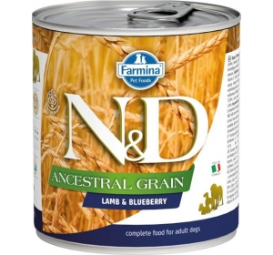 N&D Low Grain Dog konz. Adult Lamb & Blueberry 285 g