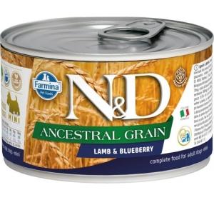 N&D Low Grain Dog konz. Adult Lamb & Blueberry Mini 140 g