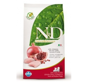 N&D Grain Free Dog Puppy S/M Chicken & Pomegranate 800g