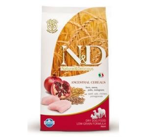 N&D Low Grain DOG Adult Mini Chicken & Pomegranate 12kg Výprodej expirace 5/2017