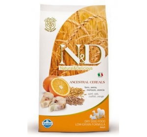N&D Low Grain DOG Adult Mini Codfish & Orange 2,5kg