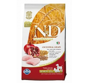 N&D Low Grain DOG Senior S/M Chicken & Pomegranate 2,5kg