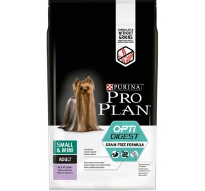 Purina PRO PLAN Dog Adult Small&Mini Grain Free krůta 7 kg