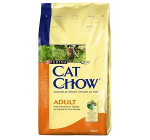 Purina Cat Chow Adult - kuře, krůta 1,5 kg