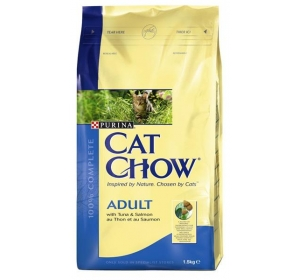 Purina Cat Chow Adult - tuňák, losos 1,5 kg