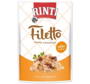 Rinti Filetto dog kaps. - kuře, srdce 100g