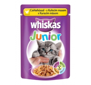 Whiskas kaps. Junior - drůbeží 100g