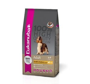 Eukanuba Adult Small & Medium Breed Lamb + Rice 1 kg