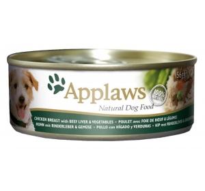 Applaws Dog konz. kuře, hovězí játra a zelenina 156 g