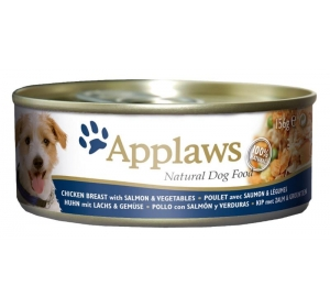 Applaws Dog konz. kuře, losos a zelenina 156 g