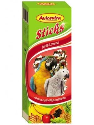 Avicentra tyč velký papoušek - ovoce a med 2 ks