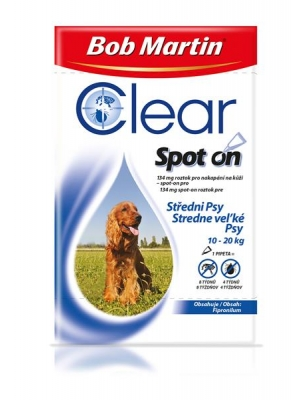Bob Martin Clear spot on DOG M 134mg a.u.v. sol 1x 1,34ml