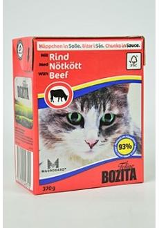 Bozita Cat kousky v omáčce s hovězím Tetrapak 370g