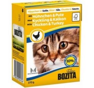Bozita Cat kousky v omáčce kuře a krůta TP 370g