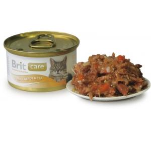 Brit Care Cat konz. - Tuna, Carrot &Pea 80 g
