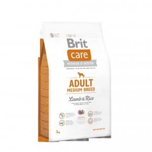 Brit Care Dog Adult Medium Breed Lamb & Rice 3kg Výprodej expirace 4/2017
