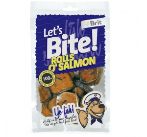 Brit Care DOG Let´s Bite Rolls o´Salmon 80 g