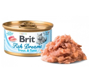 Brit Cat konz. Fish Dreams - Trout & Tuna 80 g