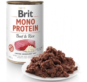 Brit Mono Protein konz. Beef & Brown Rice 400 g