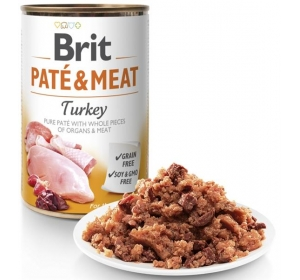 Brit Paté & Meat konz. Turkey 400 g