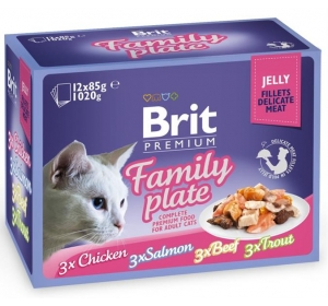 Brit Premium Cat kaps. -Jelly Family Pl. 1020 g (12x85 g)