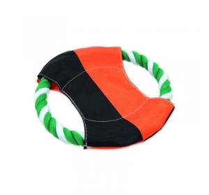 Disk DOG FANTASY létací zeleno-bílý bavlna + nylon 17,5cm