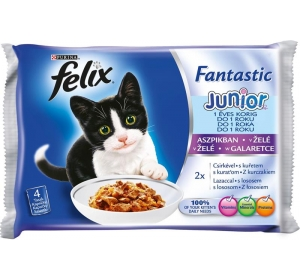 Felix cat kaps.-Fant.Multipack Junior v želé 4 x 100 g