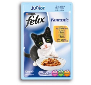Felix cat kaps.-Fantastic Junior kuře v želé 100 g